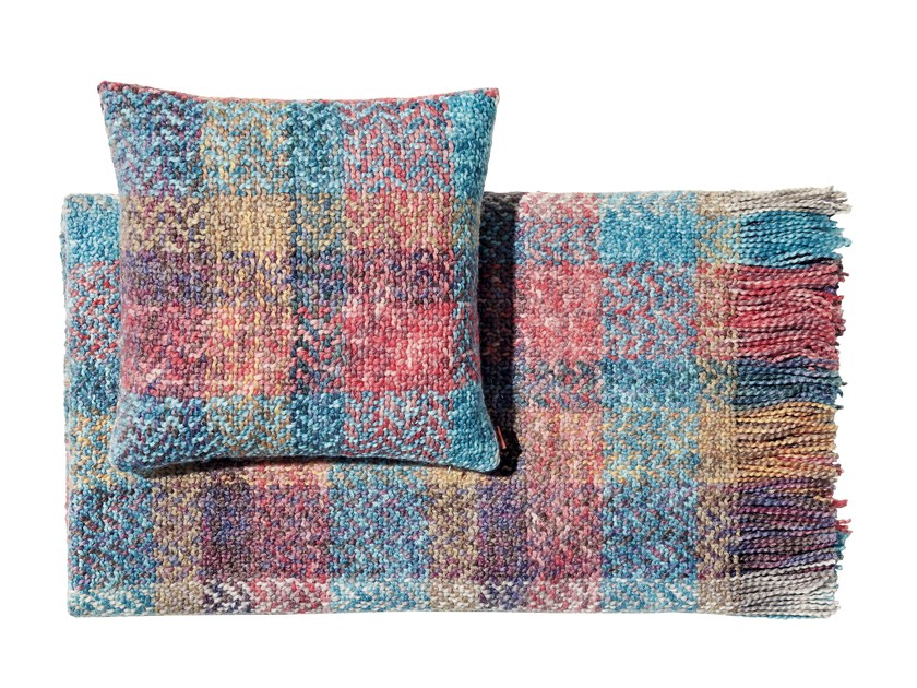 Plaid in lana bouclé SIMBA by MissoniHome