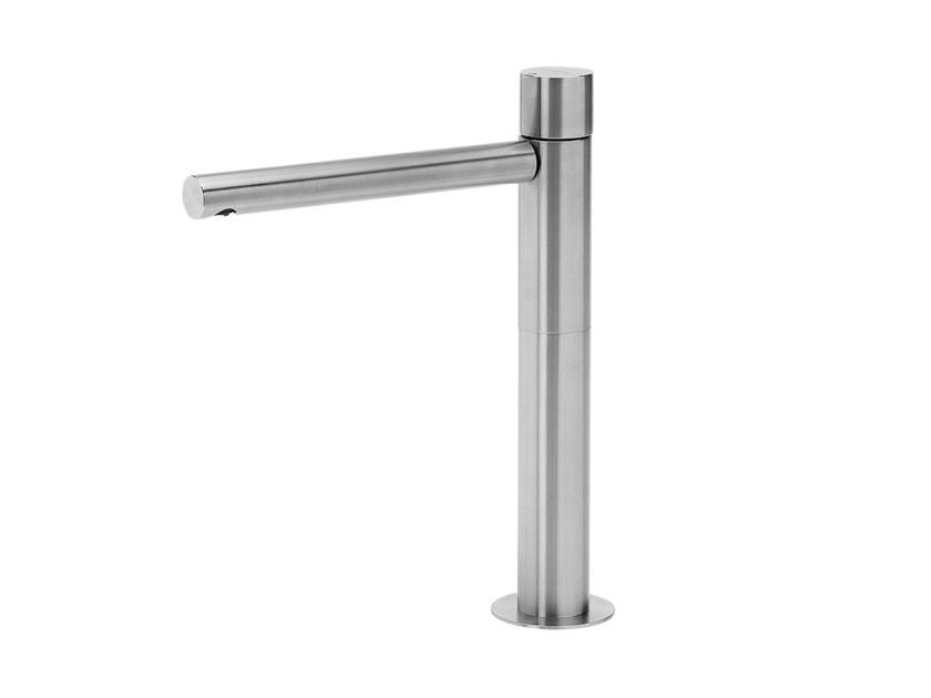 Countertop stainless steel washbasin tap LAPA T7.15 | Washbasin tap by Water Evolution