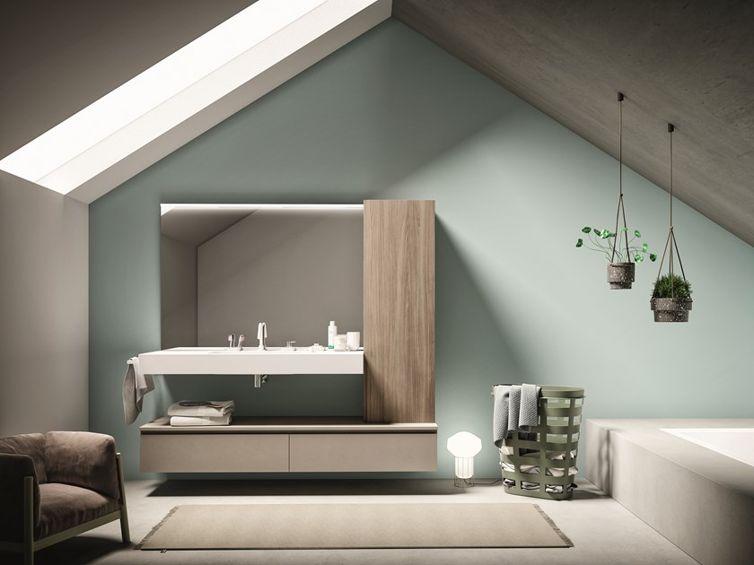 Wall-mounted vanity unit LAPIS COMP. 1 by Birex