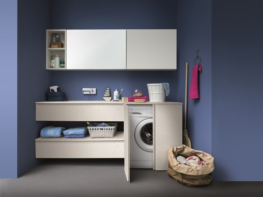 Vanity unit / laundry room cabinet LAPIS COMP. 9 by Birex