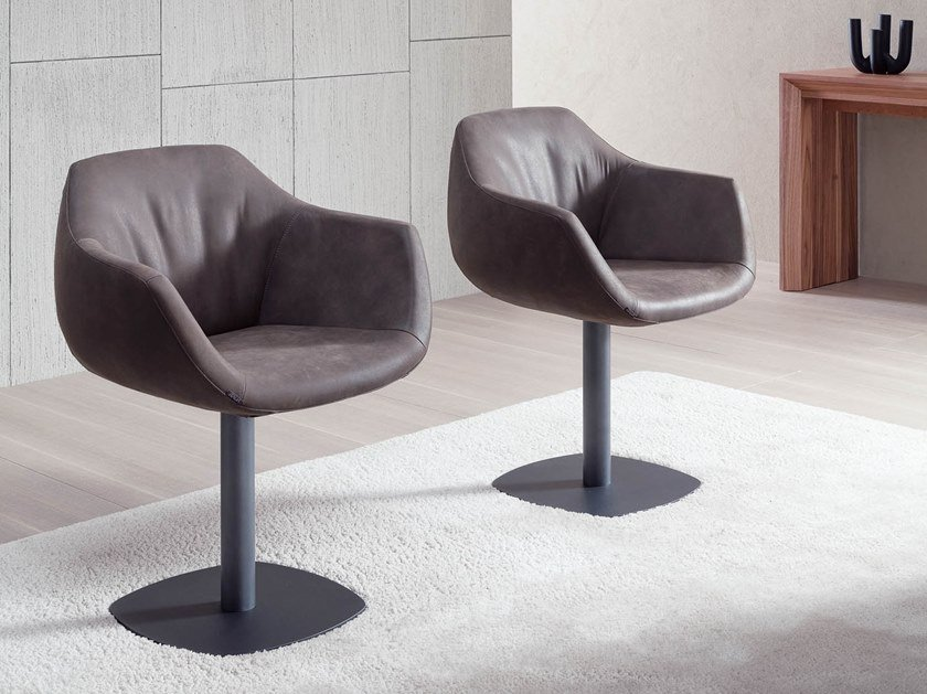 Upholstered chair with armrests LAPIS by Ozzio Italia