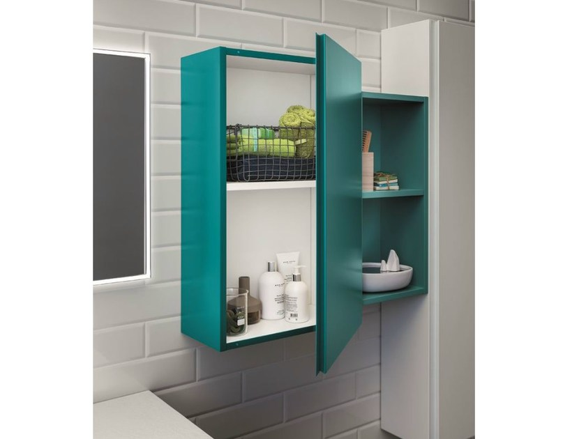 Sectional wall cabinet with doors LAPIS | Sectional wall cabinet by Birex