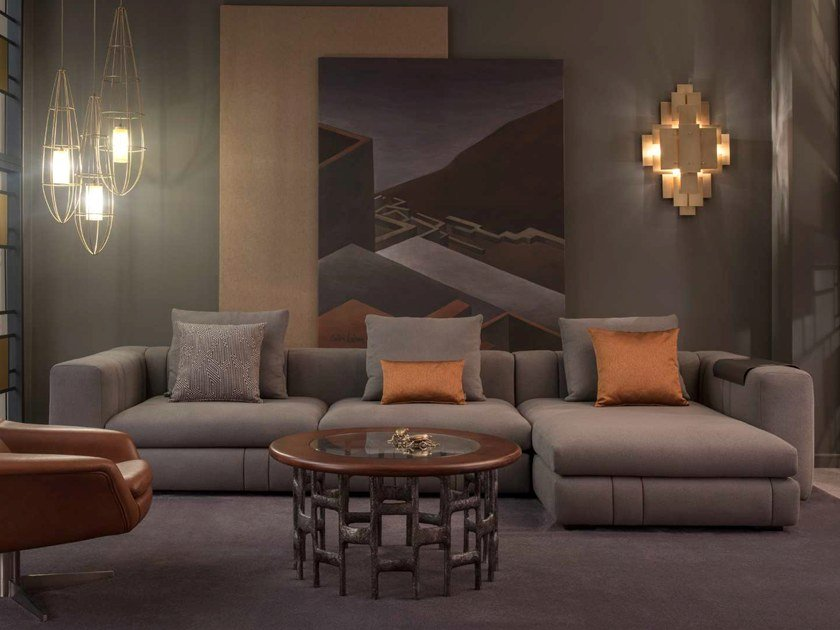 Stupendous Sectional Fabric Sofa Lapo By Hamilton Conte Paris Caraccident5 Cool Chair Designs And Ideas Caraccident5Info