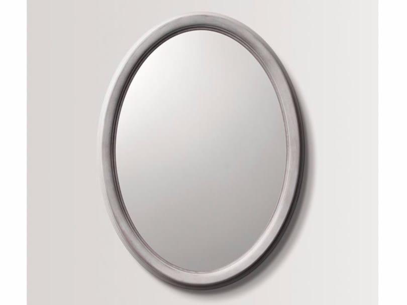 Oval wall-mounted framed mirror LARC by BATH&BATH
