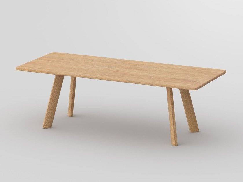 Tavolo rettangolare in legno massello LARGUS by Vitamin Design