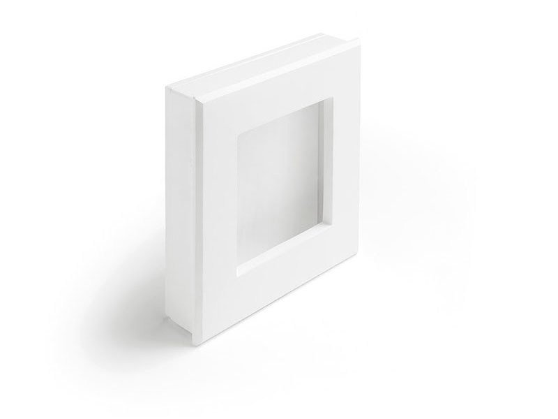 LED indirect light recessed wall lamp LARI QUADRO by Sforzin