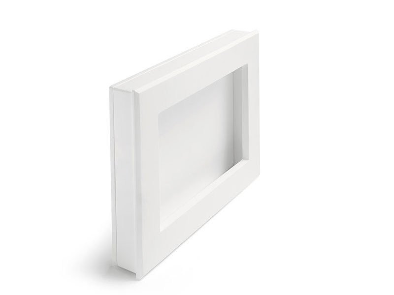LED indirect light recessed wall lamp LARI RETTANGOLO by Sforzin