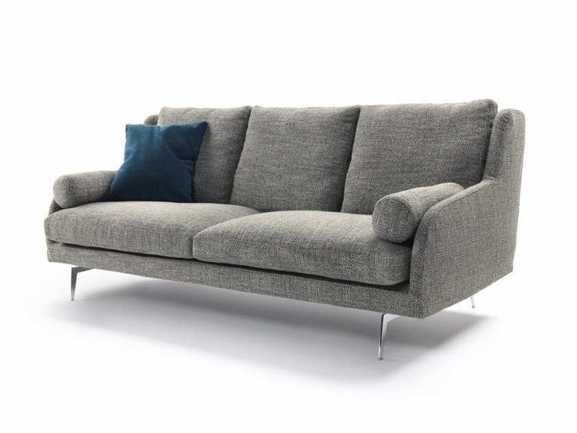 3 seater fabric sofa with removable cover LARSEEN | Fabric sofa by Marac