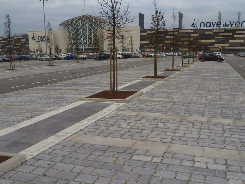 Concrete paving block LASTRA by RECORD - BAGATTINI