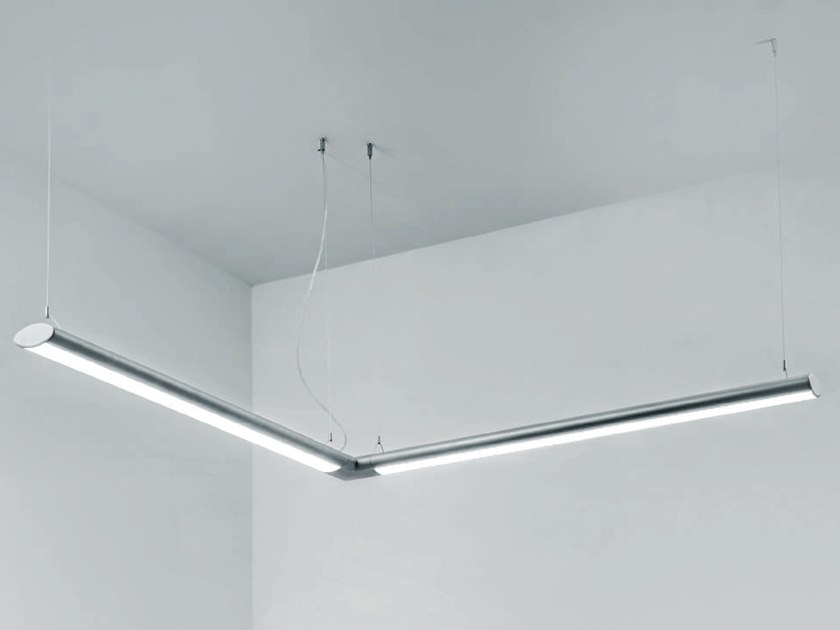 Led extruded aluminium pendant lamp lat by rossini illuminazione
