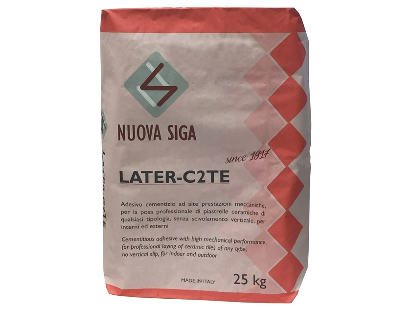 Tile adhesive / Cement adhesive for flooring LATER C2 TE by NUOVA SIGA