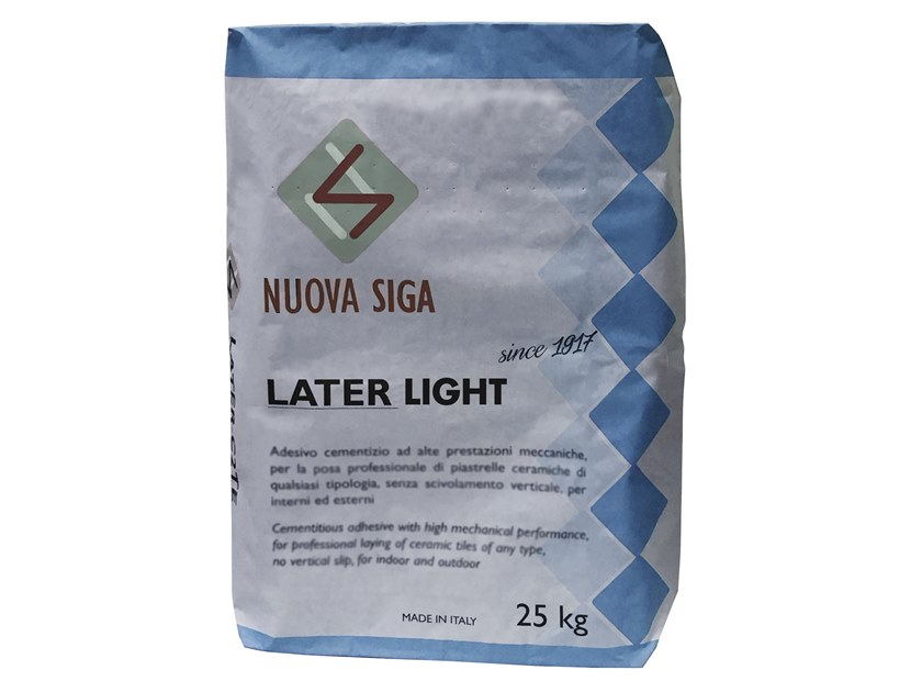 Tile adhesive / Cement adhesive for flooring LATER LIGHT by NUOVA SIGA