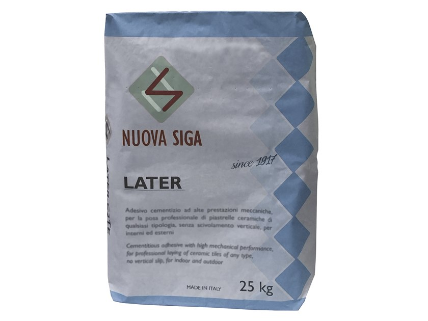 Tile adhesive / Cement adhesive for flooring LATER by NUOVA SIGA