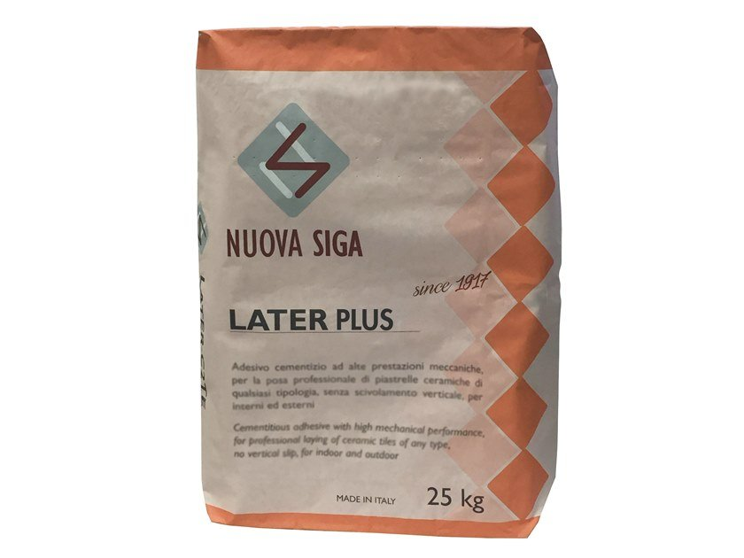 Tile adhesive / Cement adhesive for flooring LATER PLUS by NUOVA SIGA