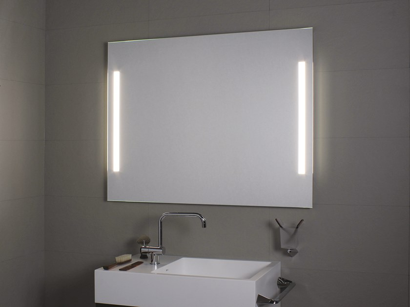 Wall-mounted bathroom mirror with integrated lighting LATERALE LED by KOH-I-NOOR