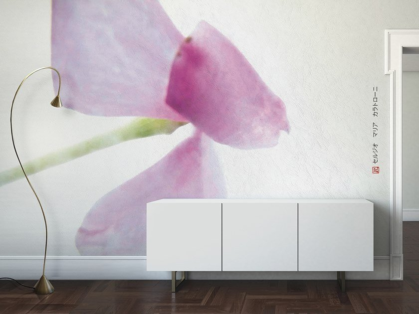 Vinyl or fyber glass wallpaper LATHY by N.O.W. Edizioni