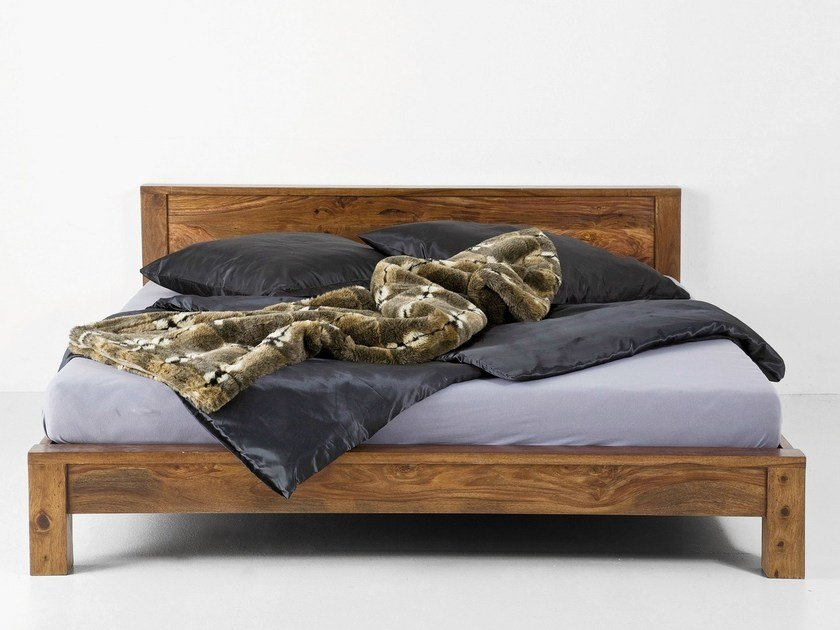 Wooden double bed Bed by KARE-DESIGN