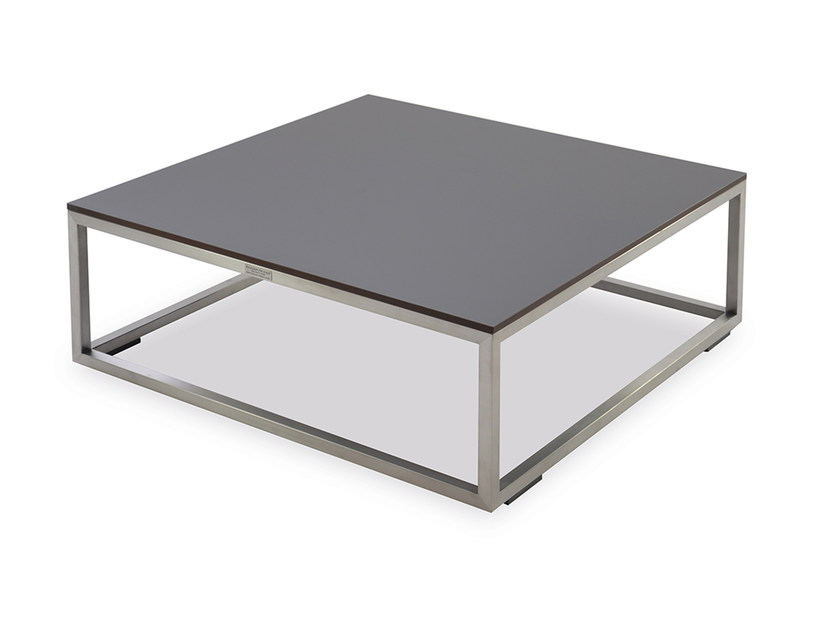 Low HPL garden side table LATITUDE | Square coffee table by INDIAN OCEAN