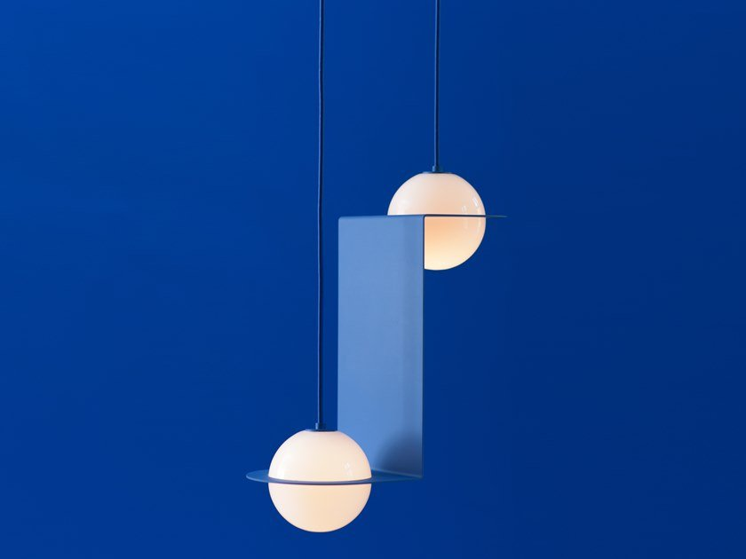 LED direct light pendant lamp LAURENT 05 by Lambert & Fils