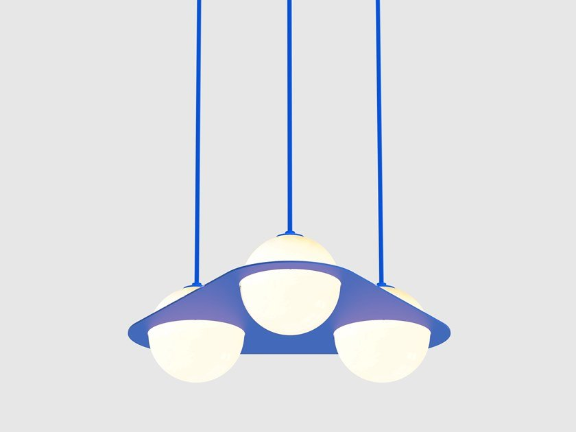 LED direct light pendant lamp LAURENT 08 by Lambert & Fils
