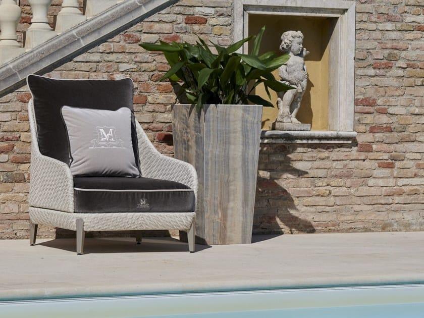 Ceramic marble-effect vase holder LAURUS | Plant pot by Samuele Mazza Outdoor