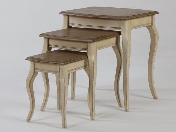 Tavolino in legno massello da salotto LAVAL by Arrediorg.it®