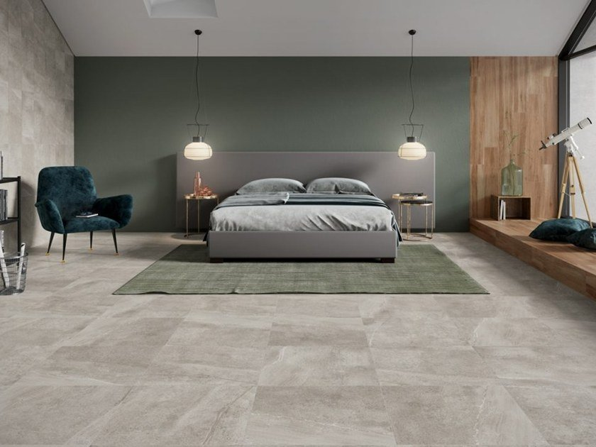 Porcelain stoneware wall/floor tiles with stone effect LAVASTONE by Revigrés