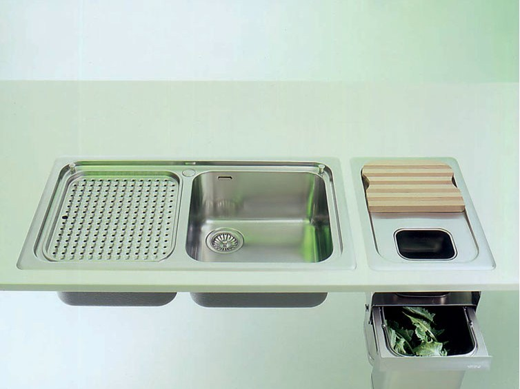 Lavelli Cucina Inox Incasso : Lavello a una vasca da incasso in acciaio inox