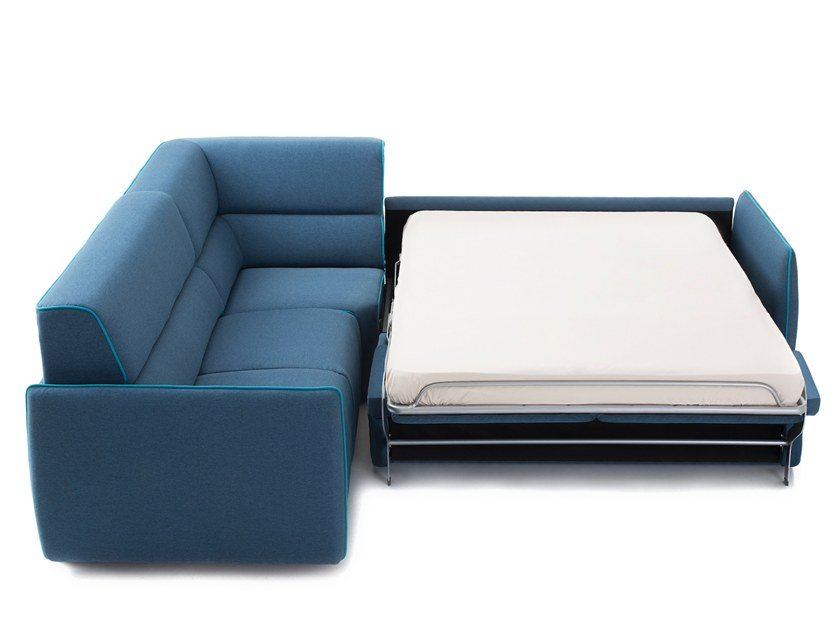 Corner fabric sofa bed LAYER | Corner sofa bed by Extraform