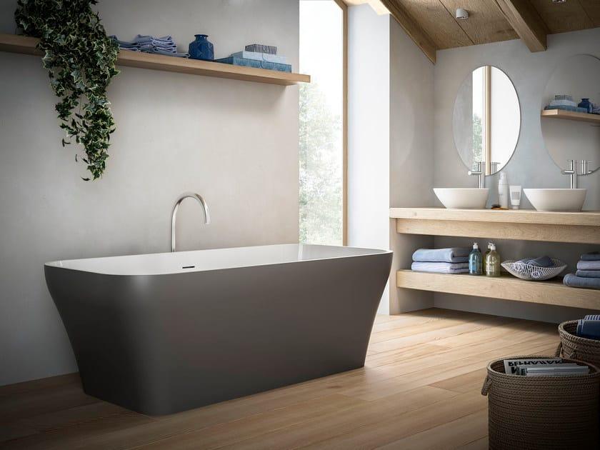 Freestanding rectangular bathtub LAZY by Glass1989