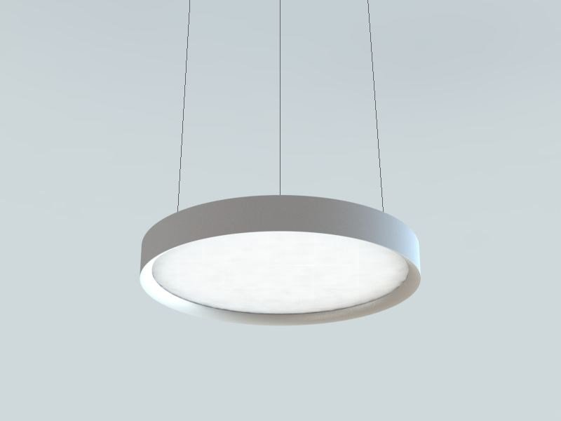LED extruded aluminium pendant lamp LBS | Metal pendant lamp by LUCIFERO'S
