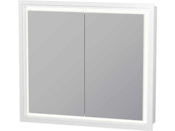 Wall-mounted bathroom mirror LC 7651 | Mirror with integrated lighting by Duravit