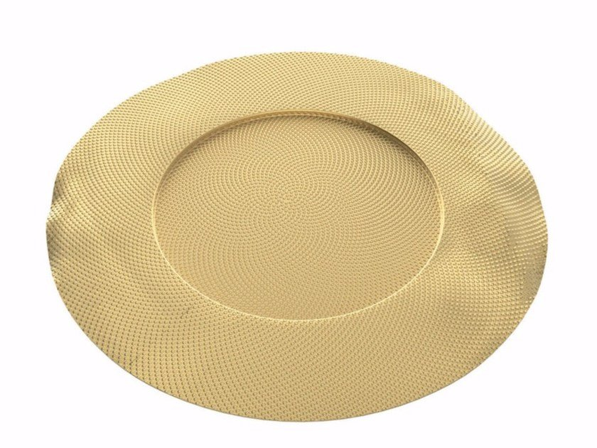Brass dinner plate SITGES | Plate by Alessi