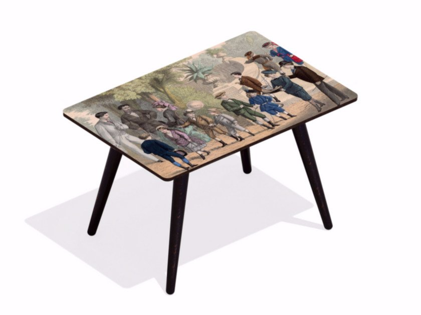 Rectangular beech wood and HPL coffee table LE LUXEMBOURG by Bazartherapy