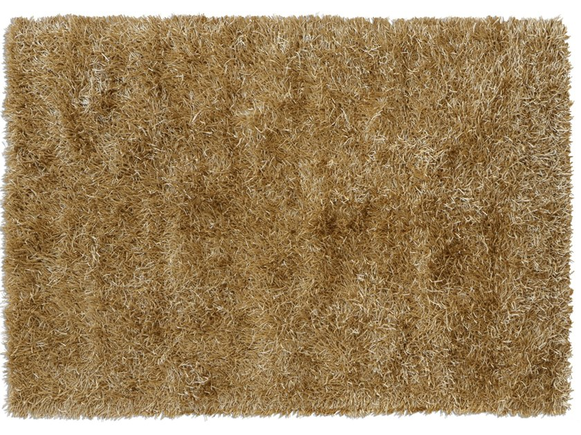 Solid-color rectangular polyester rug LE MATERIE POLIESTERE ORO ANTICO by G.T.DESIGN