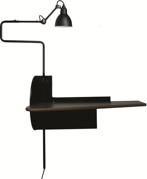 Wall mounted steel and wood secretary desk PLUG & WORK by DCW éditions