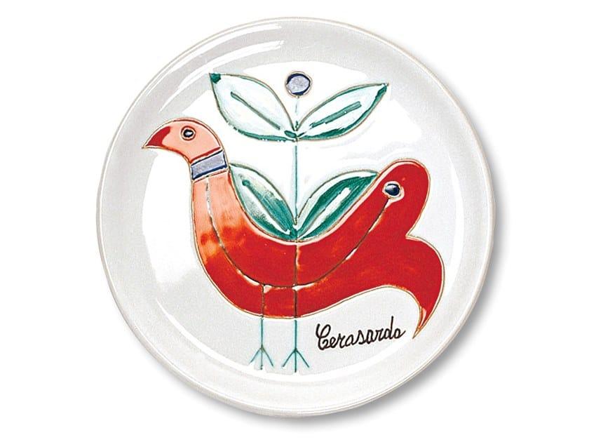 Ceramic dinner plate LE PAVONCELLE by Cerasarda