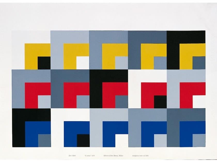 Serigrafia a 8 colori su carta dropjet LE STANZE by Danese Milano