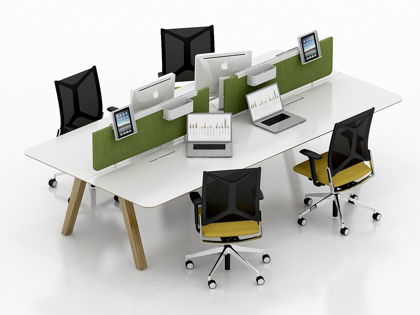 Multiple office workstation LEA | Office workstation by Tuna Ofis