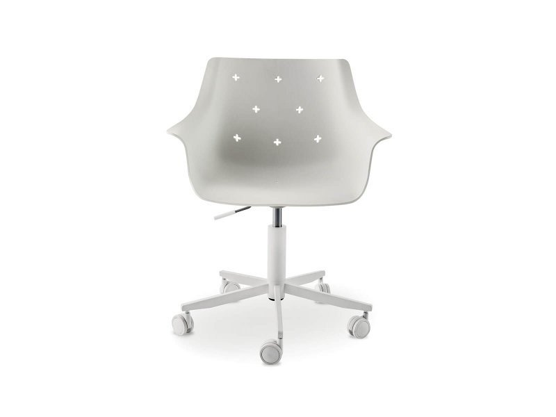 Chair with 5-spoke base with armrests LEAF | Chair with 5-spoke base by Nidi