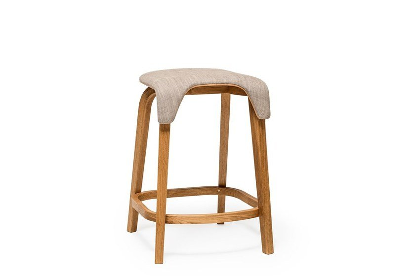 Low stool with footrest LEAF | Low stool by TON