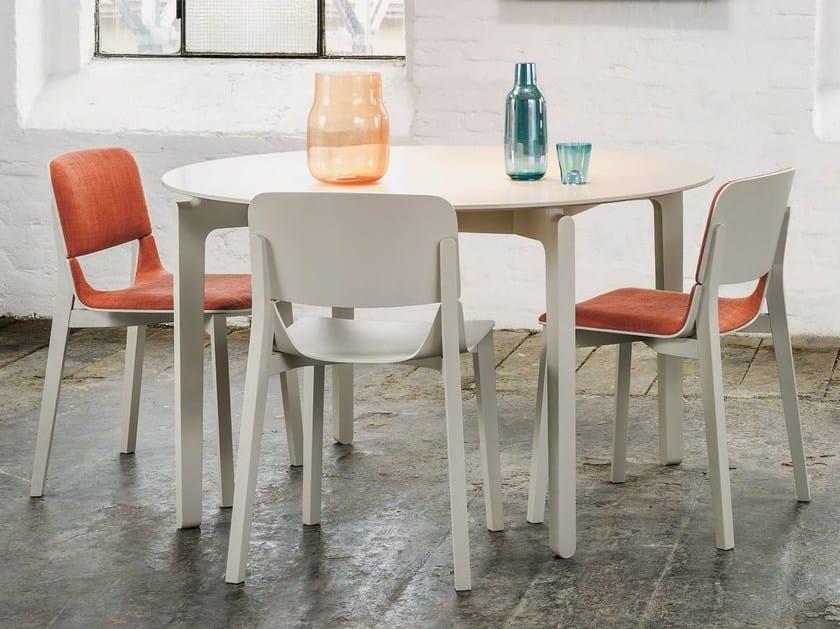 Round Table Orange.Leaf Round Table