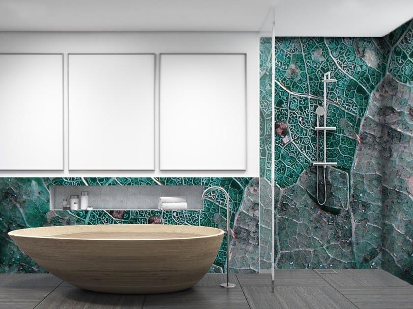 Glass-fibre wallpaper LEAF by Wall LCA