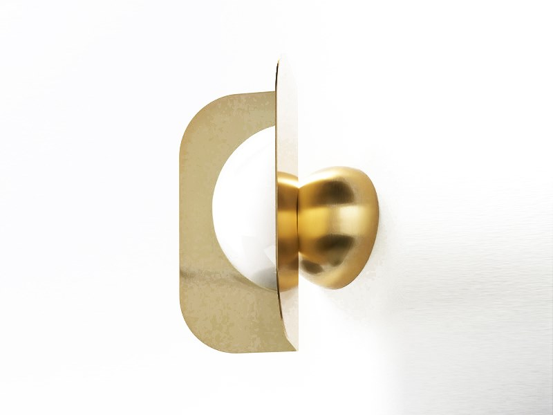 Direct light brass wall light LEAF | Wall light by M.M. Lampadari