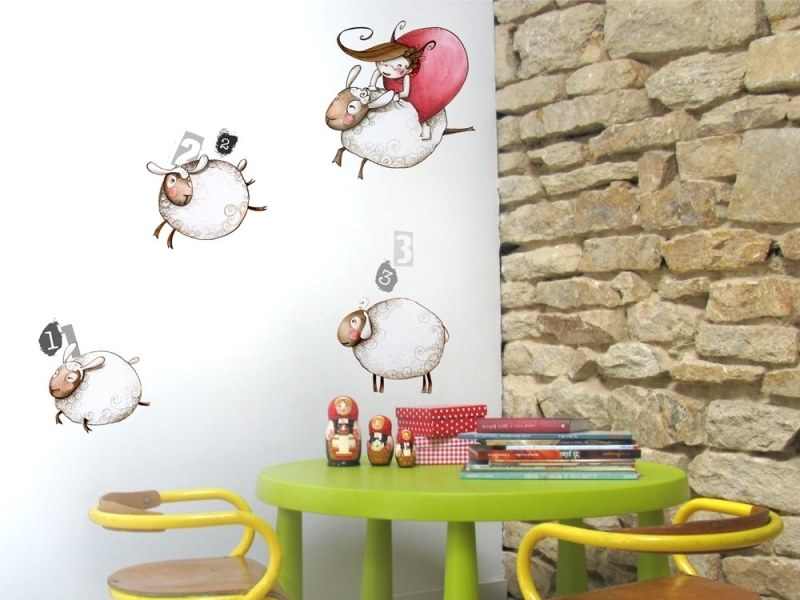 Kids wall sticker LEAPFROG by ACTE-DECO