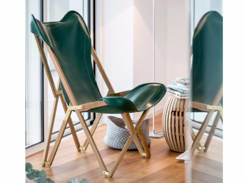 Folding high-back armchair EMY | Leather armchair by Unopiù