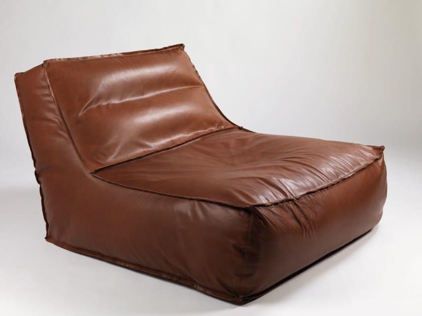 Leather armchair ZOE | Leather armchair by Verzelloni
