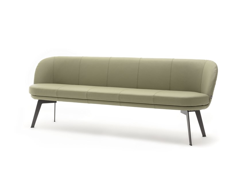 Leather bench with back ROLF BENZ 629 | Leather bench by Rolf Benz