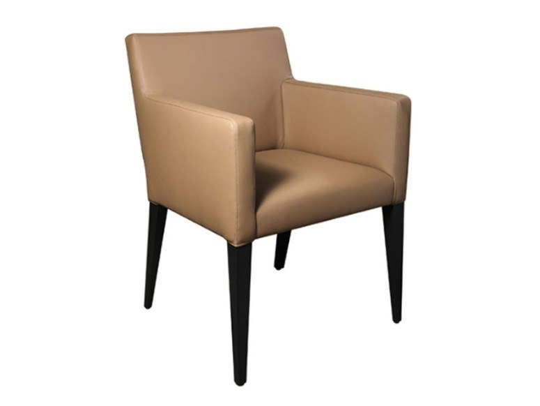 Leather chair with armrests OSLO | Leather chair by Conceito Casa