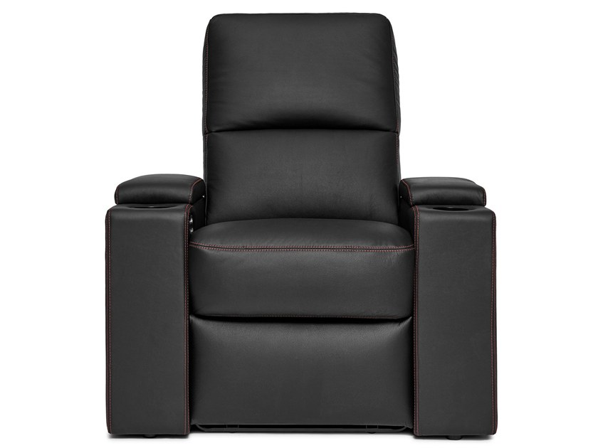 Leather Cinema armchair with motorised functions VENICE | Leather Cinema armchair by moovia